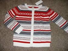 Gymboree Kids Girls Holiday Snowflake Cardigan Sweater Size M 7-8 yrs NWT NEW