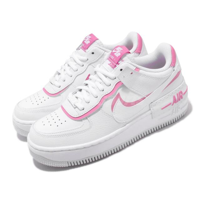 Nike Wmns AF1 Shadow White Pink Womens Air Force 1 Lifestyle Shoes  CI0919-102
