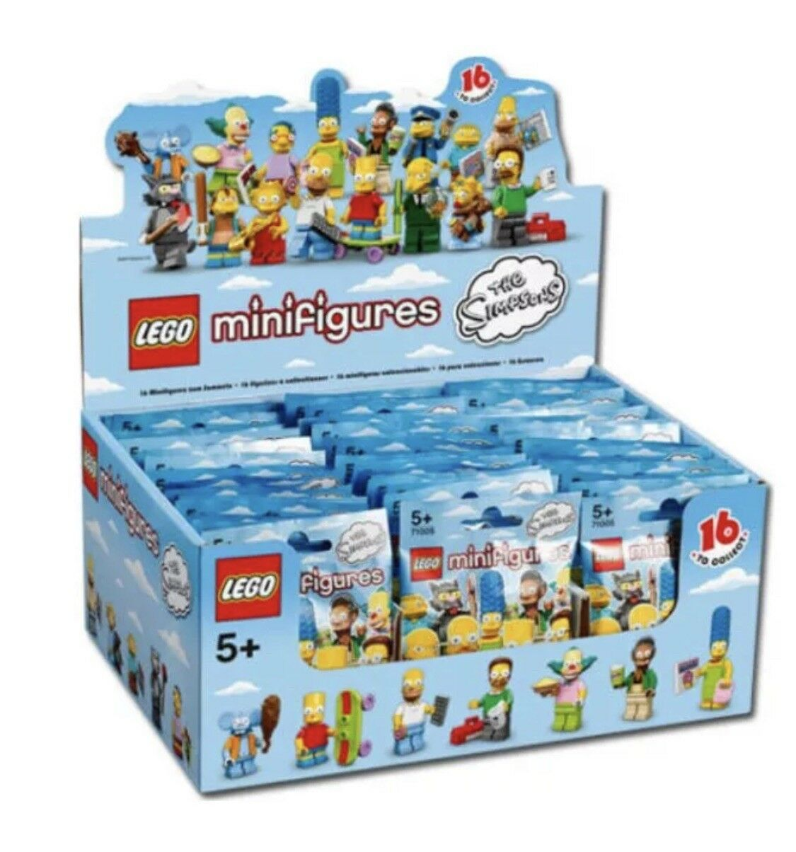 NEW SEALED LEGO Box/Case 71005 of 60 MINIFIGURES SERIES 1 THE SIMPSONS