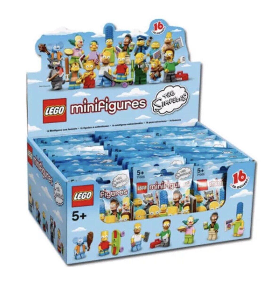 nuovo  SEALED LEGO scatola Case 71005 of 60 MINIcifraS SERIES 1 THE SIMPSONS  negozi al dettaglio