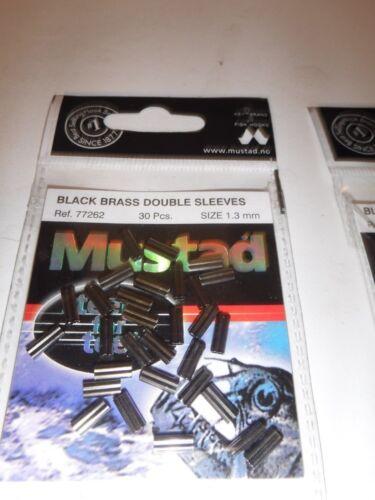 Mustad Black Brass DOUBLE SLEEVES//Sertissure