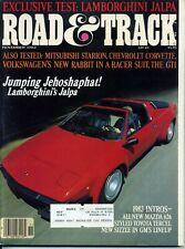 Road Amp Track November 1982 Lamborghini Jalpa Rabbit Gti Corvette Nash Healey