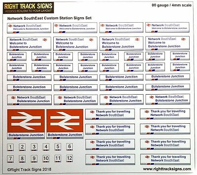 00 gauge railway safety signs kit suitable for BR or Network Rail OO gauge