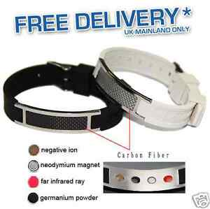 Image Is Loading New Silicone Magnetic Bio Energy Bracelet Health