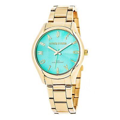 Reloj dorado mujer  esfera turquesa
