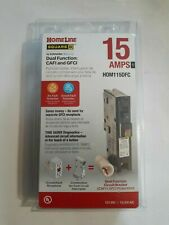 Square D Homeline Hom115dfc Plug On Neutral Dual Function Cafi Gfci Breaker New