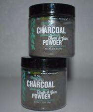 Natural Activated Charcoal Tooth and Gum Powder Organic Spearmint flavor /2 tubs