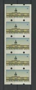 Deutschland SchöN Berlin Atm Schloss Charlottenburg Abart 5er-streifen Ungeschnitten ** Mnh M1115 Chinesische Aromen Besitzen