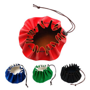 """15/"""" Leather Drawstring Pouch for Possibles Tinder Bushcraft Outdoor Camping"""