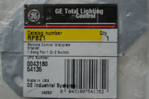 GE RPB21 Mounting Bracket for 1 or 2 New Style GE Low Voltage Light Switches