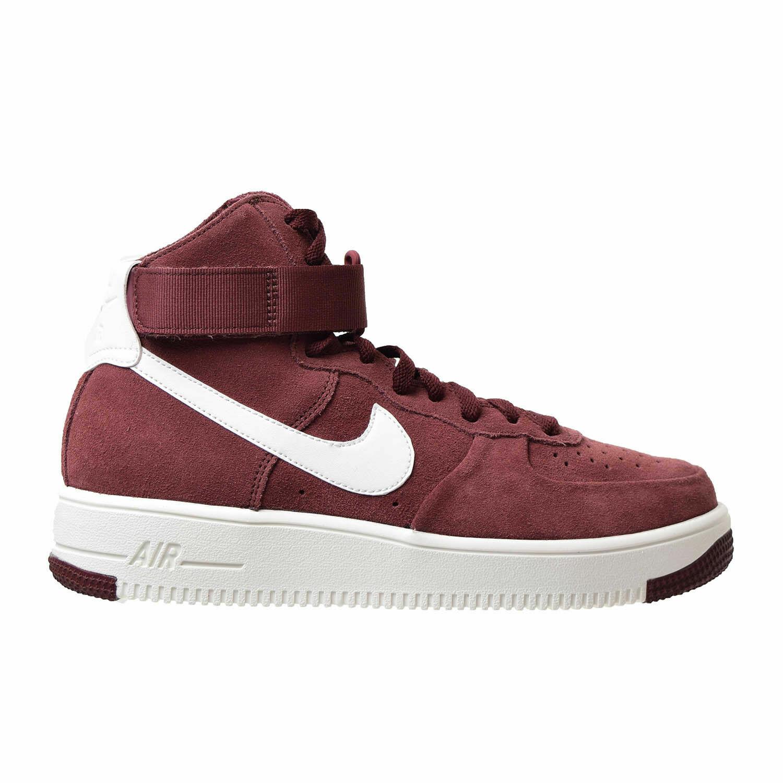Homme Nike Air Force 1 UltraForce Hi paniers Rouge Marron Blanc 880854 600
