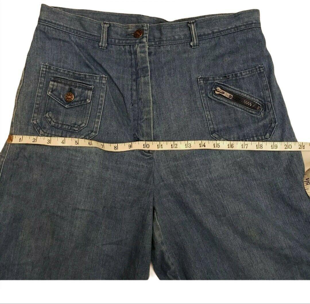Vintage 1980's Womens 10 Goucho Shorts  Blue Deni… - image 9