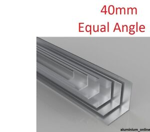 ALUMINIUM EQUAL ANGLE 40 X 40 X 3mm 1 thickness, lengths up to 2.5m