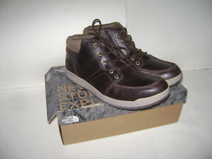 NEW-The-North-Face-Men-039-s-Size-13-Ballard-Evo-Chukka-Boots-Brown-Leather-Lace-Up