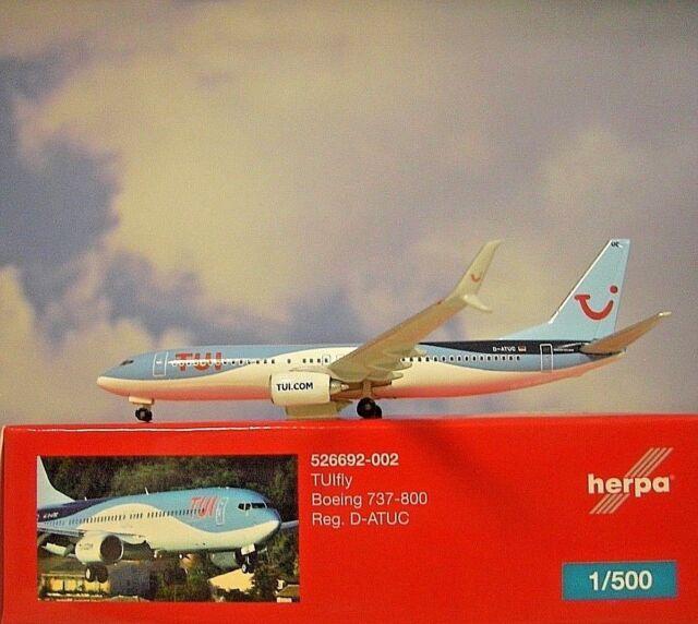 Herpa Wings 1:500 boeing 737-800 TUIfly haribo D-atuj 528191 modellairport 500