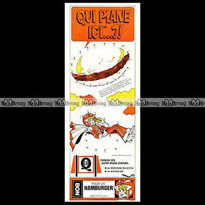 RESTAURANT-GB-QUICK-Hamburger-Vintage-Fast-Food-1973-Pub-Publicite-Ad-C18