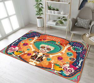 Image Is Loading Memorial Sugar Skull Area Rug Room Soft