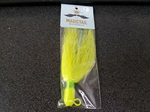 3 Flare Hawk JIgs 1 /& 5//8 Ounce.7//0 Mustad hook Yellow Chartreuse Head