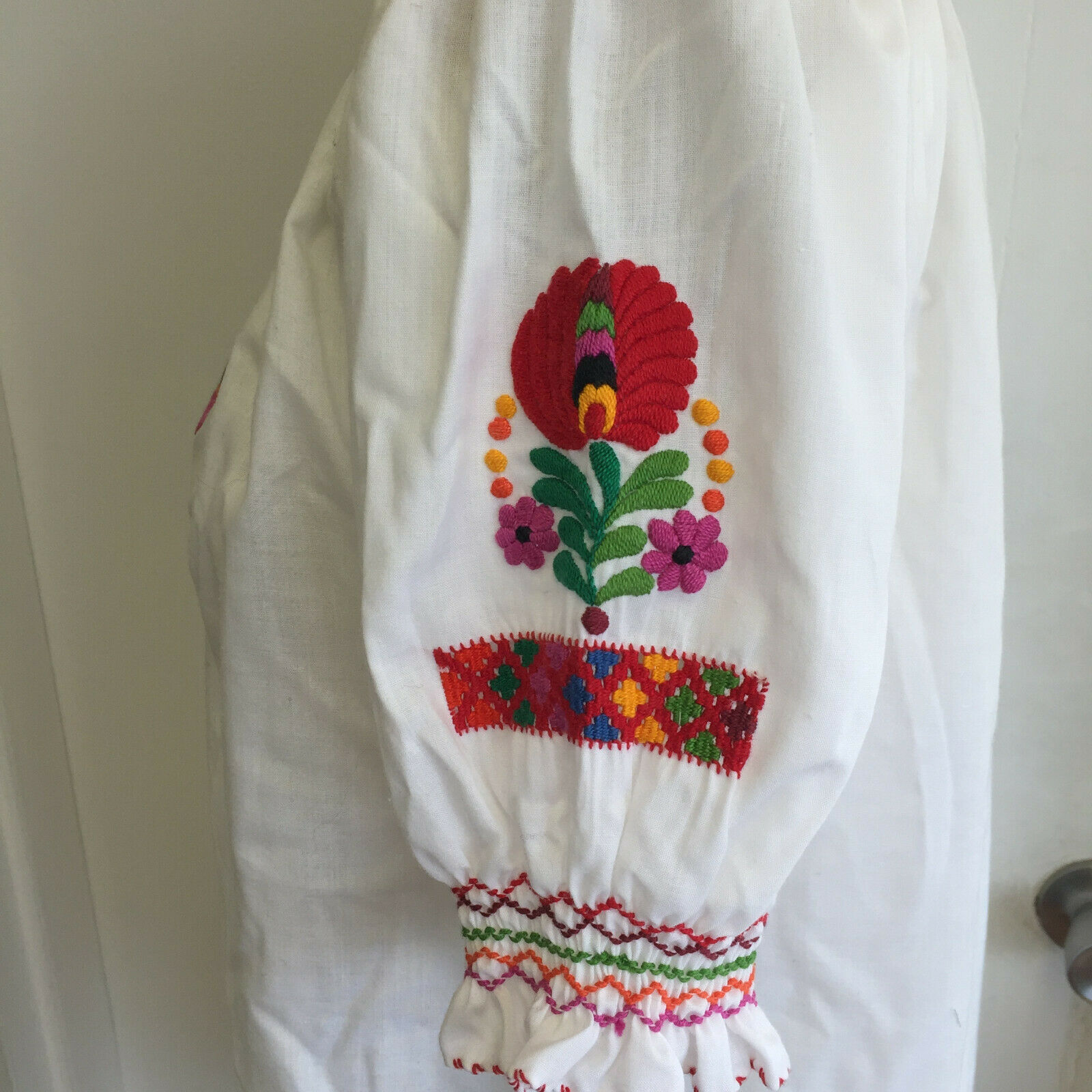 Vintage Hungarian Blouse Embroidered Peasant Top … - image 6