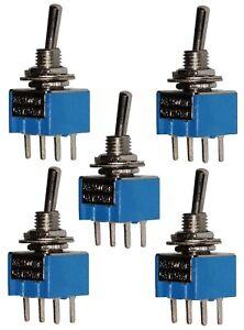 AERZETIX 2 posiciones Interruptor conmutador de palanca DPDT ON-ON 1A//250V
