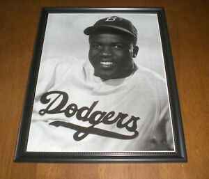 1947 dodgers jackie robinson framed b w close up print ebay