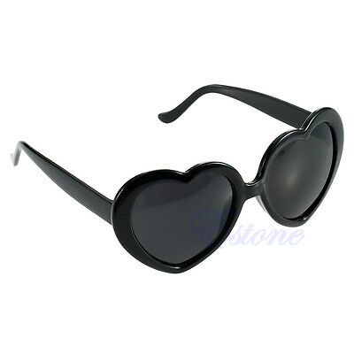 Retro Women Girl Summer Cute Glasses Heart Shape Sunglasses Eye Glasses 10 Color