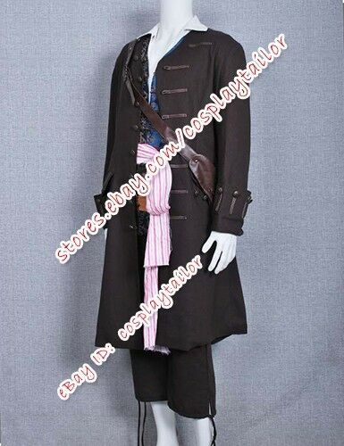 Pirates Of The Caribbean Cosplay Captain Jack Sparrow Party Costume Halloween