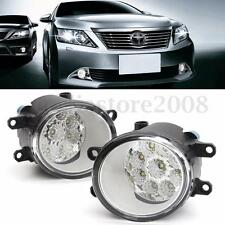 2x Front Fog Light 9 LED DRL Driving Lamp For Toyota Corolla Camry Yaris Lexus