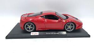 Maisto-Diecast-Escala-1-18-Edicion-Especial-Modelo-de-Coche-Ferrari-458-Speciale-rojo