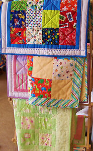 EASY PRE-CUT COMPLETE QUILT KIT, GIRLS, BOYS OR NEUTRAL, 3 SIZES, 100%  COTTON