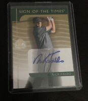 2003 UD SP AUTHENTIC NICK FALDO AUTO AUTOGRAPH SOTT GOLF SIGN OF THE TIMES
