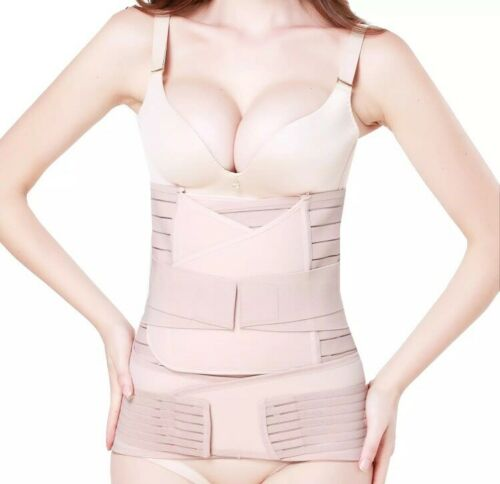 TiRain 3 in 1 Postpartum Support Recovery Belly Waist Pelvis Belt Size Durable