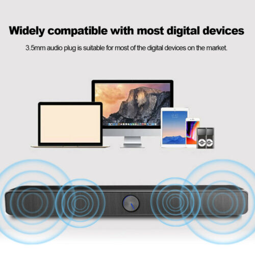 USB Wired Computer Speaker SoundBar Stereo Subwoofer Powerful Music Player D7X5