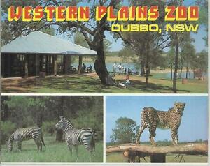 FOLD OUT VIEWS OF WESTERN PLAINS ZOO DUBBO NSW POSTCARD