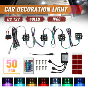 8PCS-48-LED-RGB-Rock-Lights-Under-Body-LED-Truck-Lighting-With-Remote-Control-2