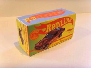 HOT-WHEELS-REDLINE-Superb-original-custom-display-box-039-CUSTOM-MUSTANG-039
