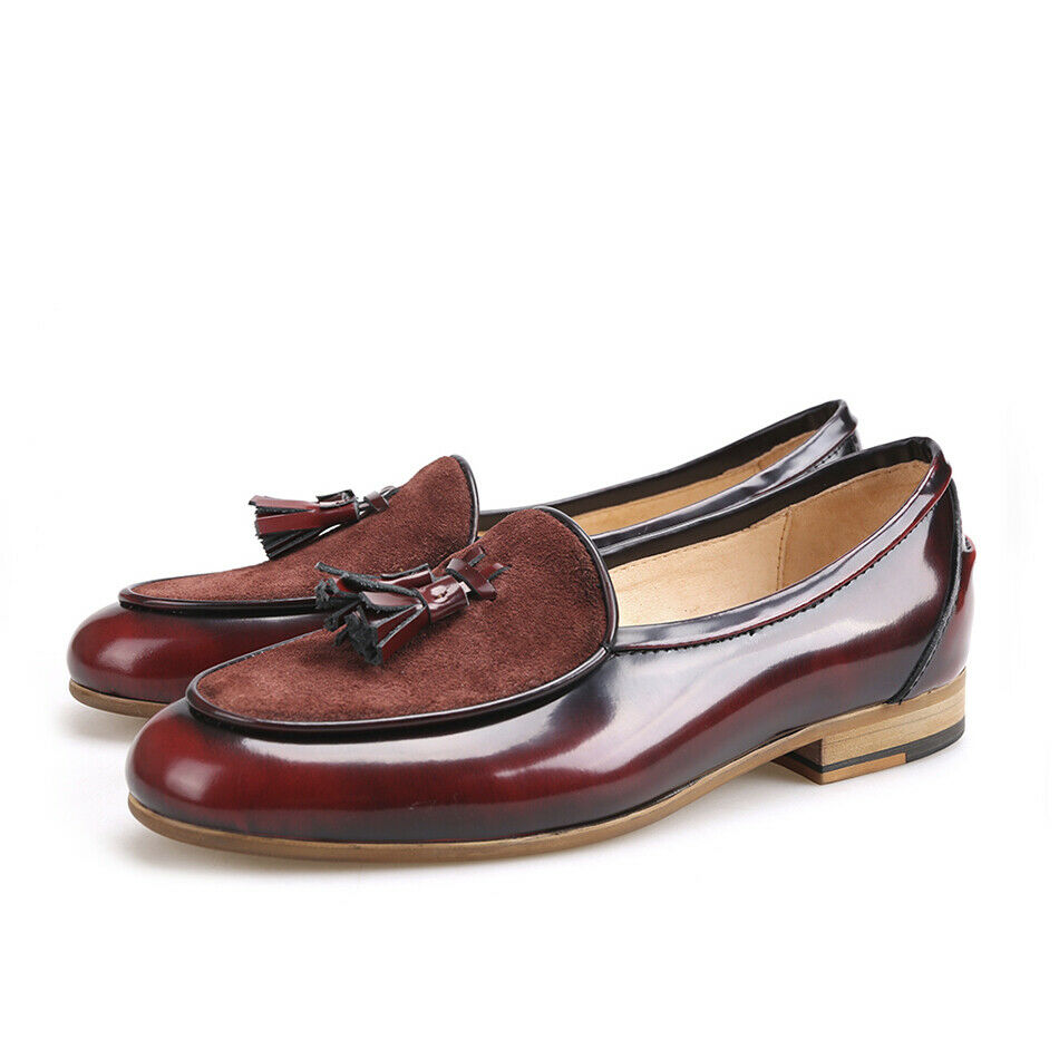 2019 mens tassels Loafers America round toe slip on formal party Leather shoes