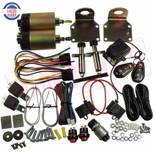 85 lb With Remote Shaved Door Handle Kit 2 Doors Popper Solenoid Street Rat New