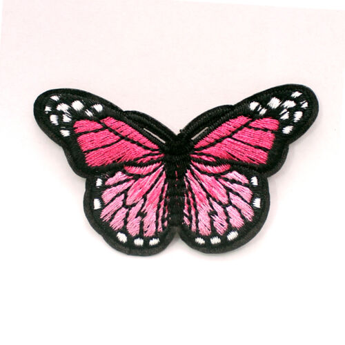 DIY 2PCS Embroidered Butterfly Applique Iron On Sew On Patch Clothing