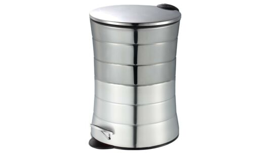 5L Stainless Steel Foot Pedal Metal Trash Can//Bin with Lid