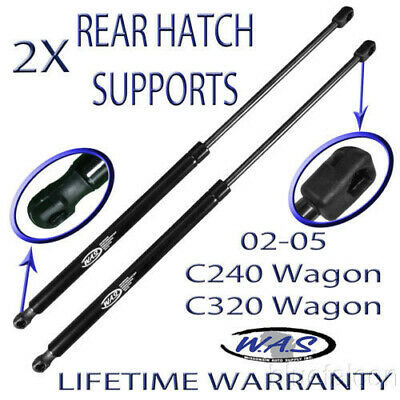 Two Rear Hatch Lift Supports Shock Strut Arm Rod For 02 03 04 05 C240 C320 Wagon