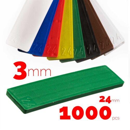 Plat en Plastique Fenêtre Rouge Spacer 3x24x100 mm 1000 pcs