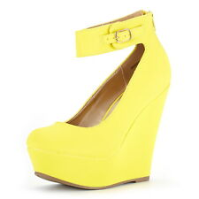 a4895889e2aa DREAM PAIRS Womens Height-Ankle New Wedding High Wedge Heel Platform Pumps  Shoes