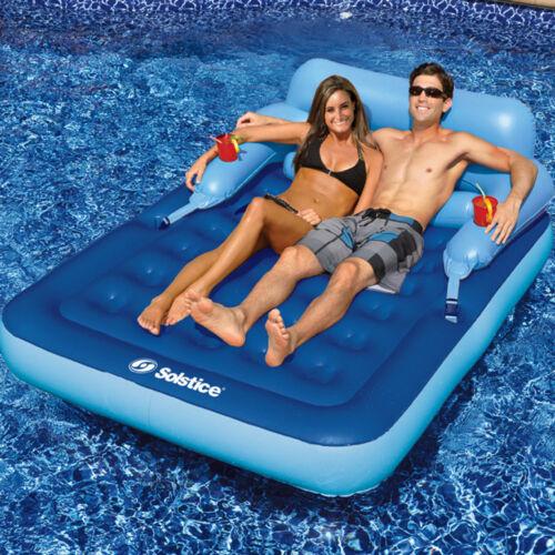 """Solstice 83/""""L x 63/""""W Swimming Pool Lake Malibu Mattress Inflatable Float"""