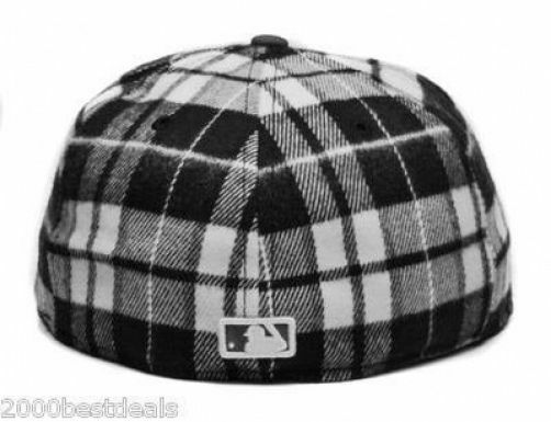 promo code aa762 4a321 ... order new era 59fifty dodgers hat mlb los angeles dodgers 59fifty  plaideezy plaid mens black white