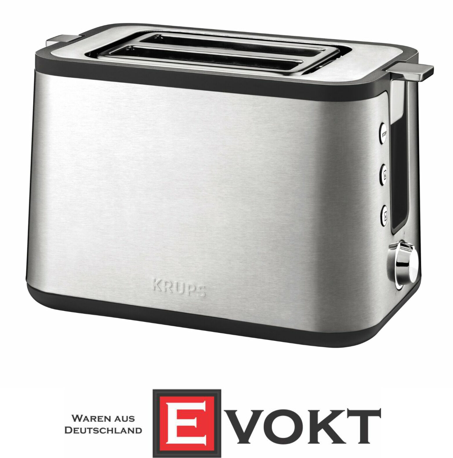 Krups KH 442 controlline Premium Grille-pain En Acier Inoxydable 700 W 2 emplacements Authentique