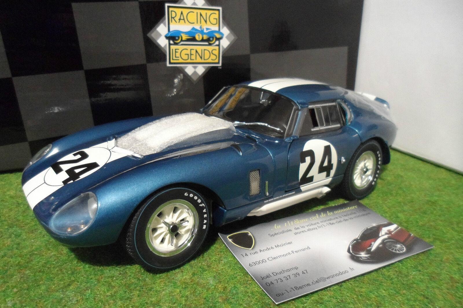 SHELBY COBRA DAYTONA Coupé  24 Bondurant WINNER Coppa Enna 1965 1 18 EXOTO 18012