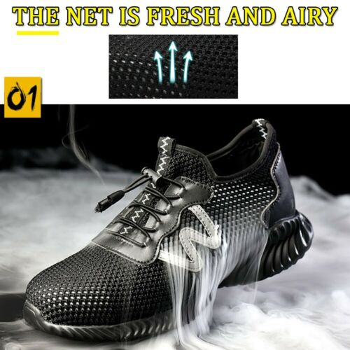 Mens Womens Composite Safety Shoes Trainers Steel Toe Cap Work Boots Hiking Shoe