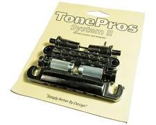 TonePros LPBM02 Locking METRIC Tune-o-matic Bridge & Tailpiece Set BLACK