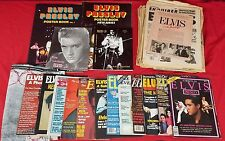 Lot - Vintage Elvis Memorabilia - Newspapers, Magazines, Poster/Photo Books